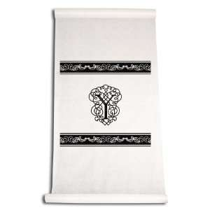 Aisle Runner, Fancy Font Letter Y, White with Black: Home & Kitchen