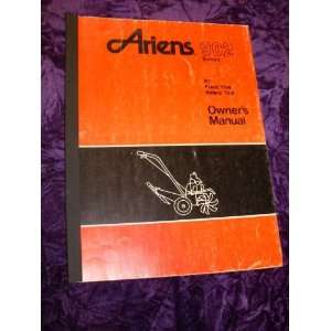 Ariens 902 Front Tine Rotary Tiller OEM OEM Owners Manual