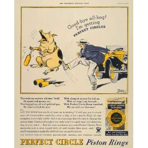1934 Ad Oil Hog Perfect Circle Piston Rings Tony Sarg