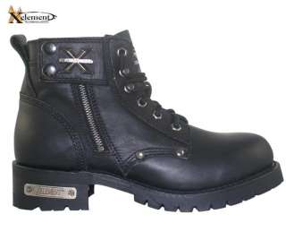 Xelement Advance Mens Black Lace Up Motorcycle Boots 10