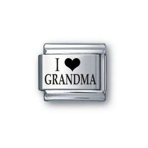Body Candy Italian Charms Laser I Love Grandma: Jewelry