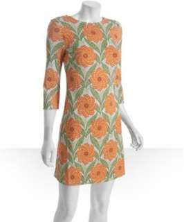 JB by Julie Brown light blue sundial floral Morgan 3/4 sleeve dress