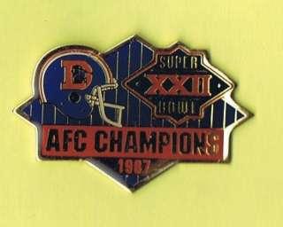 1987 Denver Broncos AFC Champions Logo NFL Football Lapel Pin