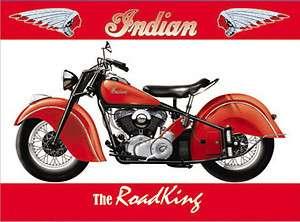 INDIAN MOTORCYCLE VINTAGE STYLE METAL SIGN