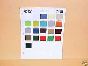 1972 1979 SUBARU EXTERIOR PAINT CHIPS COLOR CHART 72