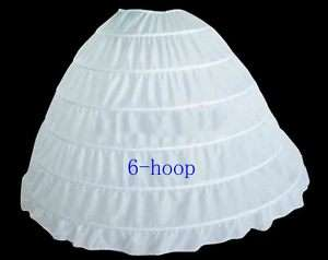 white 6 hooped wedding bridal petticoat underskirt veil