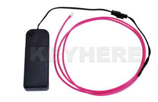 1M Flexible Neon Light Glow EL Wire Car Party Pink New