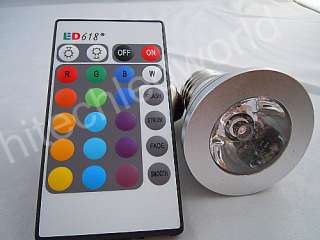 5XE27 3W SCREW BASE RGB LED Light LAMP BULB+REMOTE 16CL