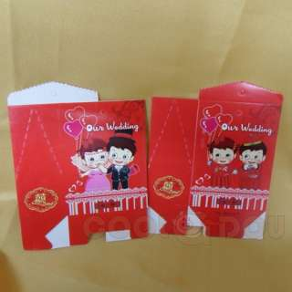 20 pcs Red Wedding Favor Boxes Party Gift Candy Box