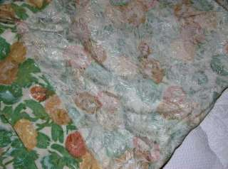 Vintage Lot Textured Floral Fabric Curtain Panels