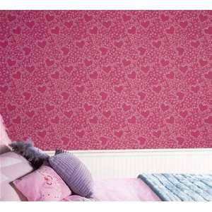 Pink Hearts Wallpaper: Kitchen & Dining