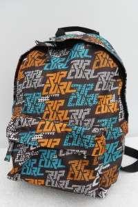 RIP CURL BROWN A4 BACKPACK SCHOOL BAG TRAVEL CASE BNWL