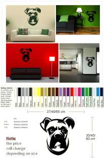 BOXER DOG WALL ART DECAL GRAPHIC STICKER rub on vinyl transfer new DO7