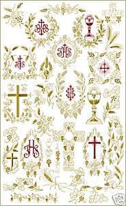 Christian Symbols machine embroidery designs set 5x7