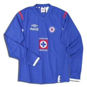 Umbro Soccer Jersey: Umbro Cruz Azul Long Sleeve Home Replica Soccer