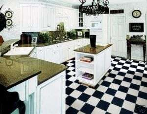 12 Black White CHECKERED Vinyl Flooring Diner Garages