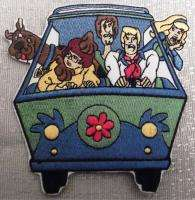 SCOOBY DOO CAST in MYSTERY MACHINE Embroidered PATCH